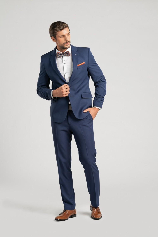 Pánský oblek - královská modř