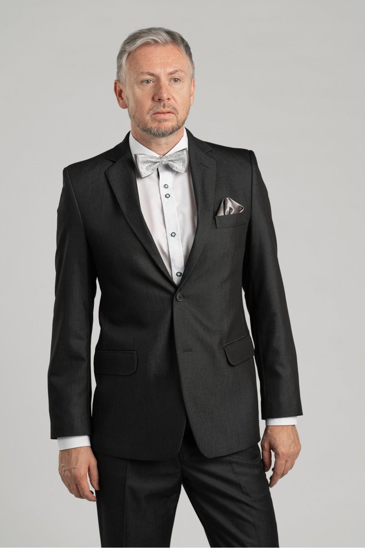 Pánský oblek - šedý antracit