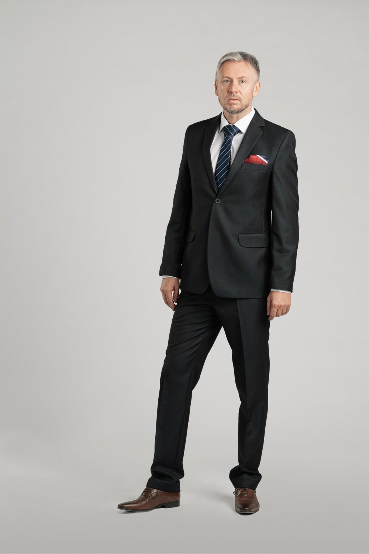 Pánský oblek - modrá ocel