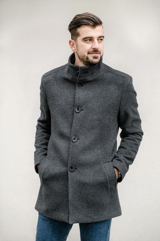 Pánský kabát LEVIS šedý